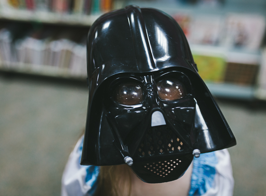 girl in darth vader mask