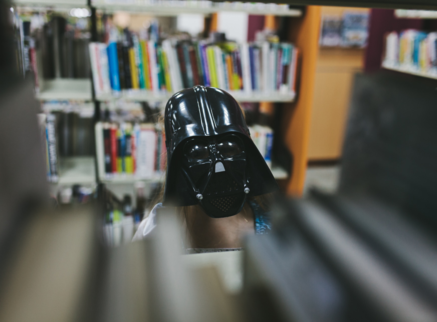 darth vader at the library